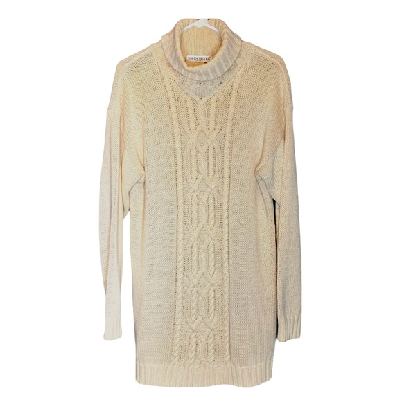 Vintage John Meyer cable knit extra long sweater